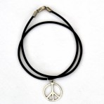Double Wrap Peace Sign Bracelet